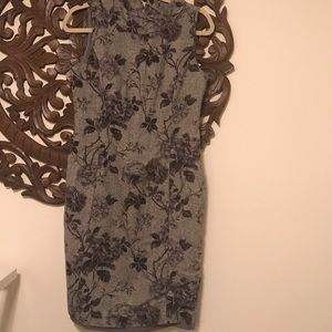 Talbots wool floral dress size 10 petite
